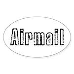 Airmail Sticker (Oval 10 pk)
