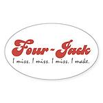 Four-Jack Sticker (Oval 50 pk)