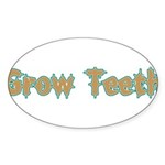 Grow Teeth Sticker (Oval 50 pk)
