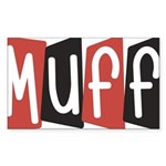 Muff Sticker (Rectangle 10 pk)