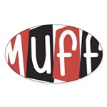 Muff Sticker (Oval 10 pk)