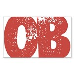 OB Sticker (Rectangle 10 pk)