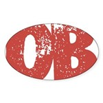 OB Sticker (Oval 10 pk)