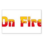 On Fire Sticker (Rectangle 50 pk)