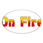 On Fire Sticker (Oval 50 pk)