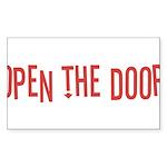 Open the Door Sticker (Rectangle 50 pk)