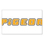 Pigeon Sticker (Rectangle 50 pk)