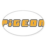 Pigeon Sticker (Oval 50 pk)