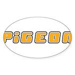 Pigeon Sticker (Oval 10 pk)