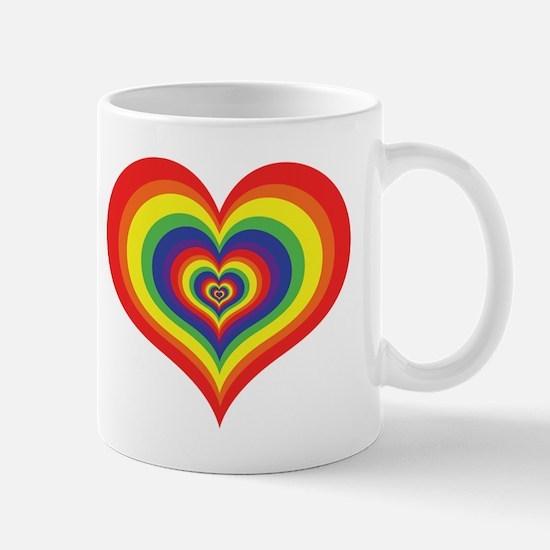 Retro Rainbow Heart Mug