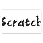 Scratch Sticker (Rectangle 50 pk)