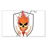 Skull Sticker (Rectangle 50 pk)