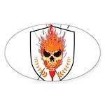 Skull Sticker (Oval 10 pk)