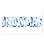 Snowman Sticker (Rectangle 50 pk)