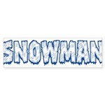Snowman Sticker (Bumper 50 pk)