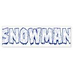 Snowman Sticker (Bumper 10 pk)