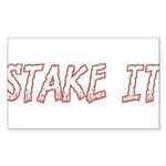 Stake It Sticker (Rectangle 10 pk)