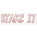 Stake It Sticker (Bumper 10 pk)