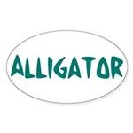 Alligator Oval Sticker (10 pk)