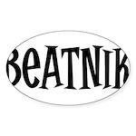 Beatnik Oval Sticker (50 pk)