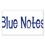 Blue Notes Rectangle Sticker 50 pk)