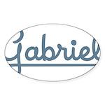 Gabriel Oval Sticker (50 pk)