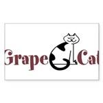 Grape Cat Sticker (Rectangle 50 pk)