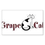 Grape Cat Sticker (Rectangle 10 pk)