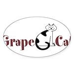Grape Cat Sticker (Oval 10 pk)