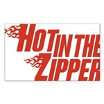 Hot in the Zipper Rectangle Sticker 50 pk)