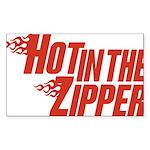 Hot in the Zipper Rectangle Sticker 10 pk)