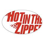 Hot in the Zipper Oval Sticker (50 pk)