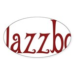 Jazzbo Oval Sticker (50 pk)