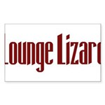 Lounge Lizard Rectangle Sticker 50 pk)