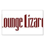 Lounge Lizard Rectangle Sticker 10 pk)