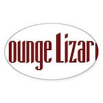 Lounge Lizard Oval Sticker (10 pk)