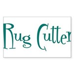 Rug Cutter Rectangle Sticker 10 pk)