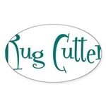 Rug Cutter Oval Sticker (10 pk)