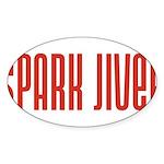 Spark Jiver Oval Sticker (50 pk)