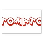 Tomato Rectangle Sticker 50 pk)