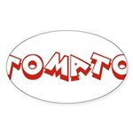 Tomato Oval Sticker (10 pk)