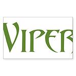 Viper Rectangle Sticker 50 pk)