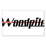 Woodpile Rectangle Sticker 50 pk)