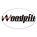 Woodpile Oval Sticker (10 pk)