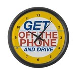 Get Off the Phone Large Wall Clock