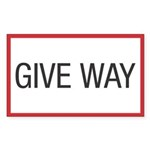 Give Way Rectangle Sticker 10 pk)
