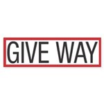 Give Way Bumper Sticker (50 pk)