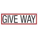 Give Way Bumper Sticker (10 pk)