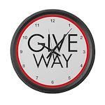 Give Way Large Wall Clock
