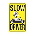 Slow Driver Rectangle Sticker 10 pk)